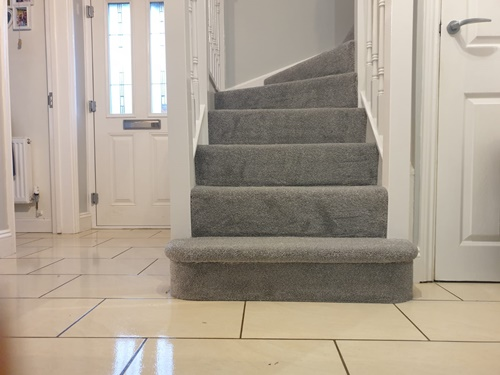 New carpet fitted on stairs