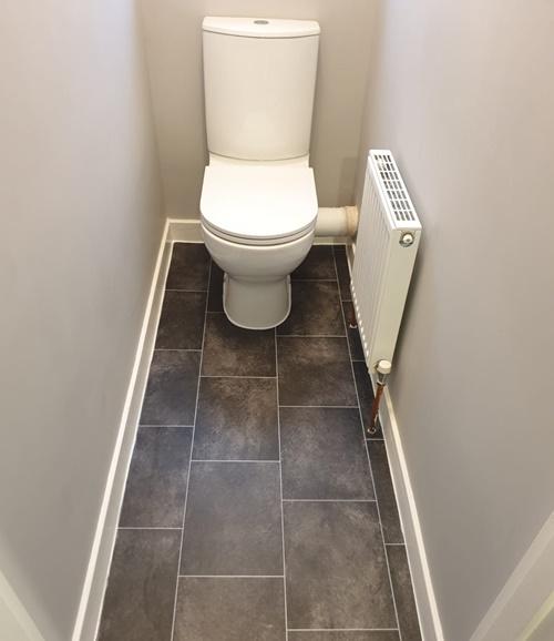 Vinyl flooring for toilet